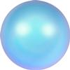 Swarovski 5817 1/2 Drilled Cabochon Pearl Iridescent Light Blue 6mm
