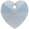 Swarovski 6202 Heart Shaped Pendant Air Blue Opal 10.3x10mm