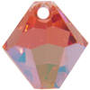 Swarovski 6301 Top Drilled Bicone Pendant Padparadscha AB 8mm