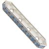Swarovski 77725 Rondelle Spacer Bars 4 Hole Air Blue Opal/Silver