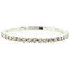 1 Row Stretch Bracelet, Crystal/Silver