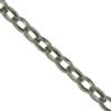 Cable Chain, 1.14 mm wide, Imitation Rhodium Plated