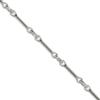 Cable Chain, 8 mm, Imitation Rhodium Finish