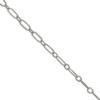 Figaro Chain, 3.12mm width x 6.25mm length, Imitation Rhodium finish