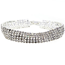5 Row Tennis Bracelet, Crystal/Silver
