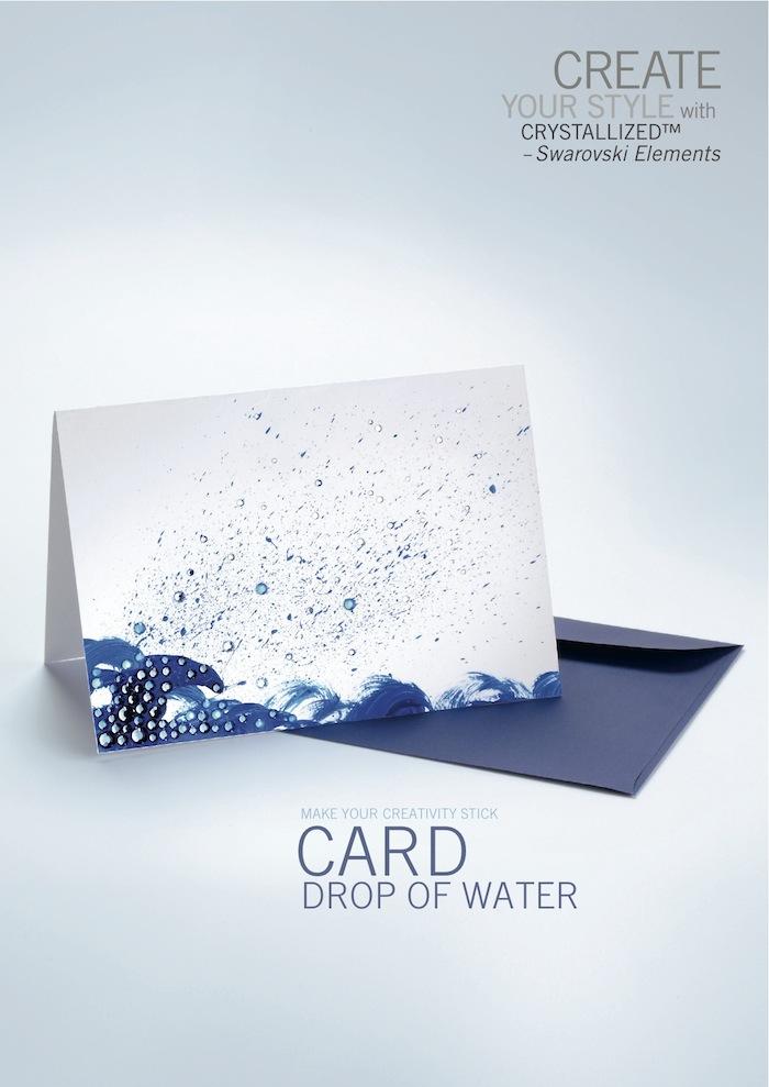 Card Drop Of Water by SWAROVSKI™