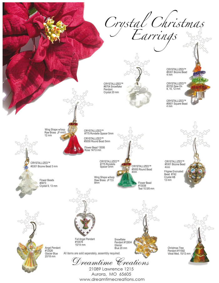 Crystal Christmas Earrings